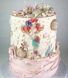 Gorgeous little Mermaid inspired cake birthday cake. More in my website Gorgeous little Mermaid inspired cake design! Gorgeous little Mermaid inspired cake design! Birthday Cakes and D. Pretty Cakes, Cute Cakes, Beautiful Cakes, Amazing Cakes, Little Mermaid Cakes, Mermaid Birthday Cakes, The Little Mermaid, Little Girl Cakes, Crazy Cakes