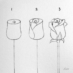 Easy Flower Drawings, Easy Doodles Drawings, Flower Drawing Tutorials, Art Drawings Sketches Simple, Pencil Art Drawings, Art Tutorials, Drawing Ideas, Drawing Tips, Beginner Drawing
