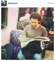 I love how Aidan Turner doesn't care about being a celebrity.