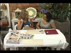 Bandeja com Arte Francesa | Artesanato SABOR DE VIDA - YouTube