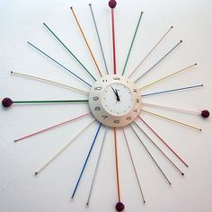 Knitting needle clock