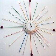 Knitting needle clock