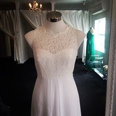 Love this new gown - stunning  #ivory #lace #beautiful #dessygroup #aftersix #new #newarrival #lacegown #weddingdress #wedding #dress #gown #boutique #bride #online #shop #summer #bellebridesmaid #pretty #bridetobe #bridalparty #bridesmaids #dresses #bridesmaiddress