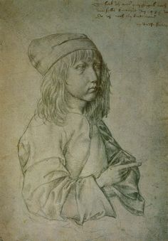 Albrecht Dürer (Germay, 1471-1528) ~ Self-portrait at age 13 ~ 1484 ~ Albrecht Dürer was a painter, printmaker, and theorist of the German Renaissance. Born in Nuremberg, Dürer established his reputation and influence across Europe when he was still in his twenties, due to his high-quality woodcut prints.