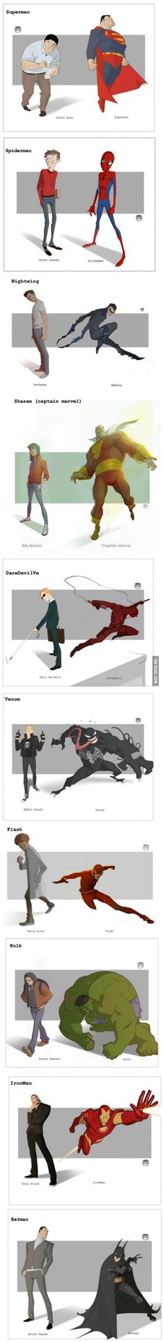 10 Stylish Secret Identities And The Heroes They Become