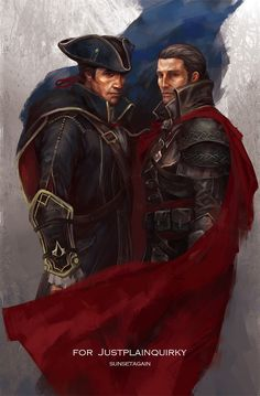 Shaytham for Justplainquirky Shay Patrick Cormac & Haytham Kenway from Assassin's Creed Rogue Shaytham for quirky Assassins Creed Rogue, Liam O Brien, Cry Of Fear, Assassin's Creed I, Connor Kenway, Rogues, Character Art, Audi, Deviantart