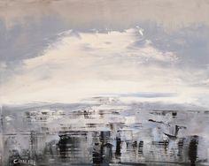 """Winter Ocean 2, Ocean 33 by Marino Chanlatte   $200   20""""w x 16""""h   Original Art   http://www.vangoart.co/chanlatte/winter-ocean-2-ocean-33 @VangoArt"""