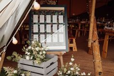 Sally & Adam celebrated their tipi wedding at Cattows Farm in Three Giant Hat Tipis. Their day is full of gorgeous styling touches, laughter and dancing. Seating Plans, Tipi Wedding, Goods And Services, Sally, Laughter, Dancing, Floral Design, Hat, Ideas
