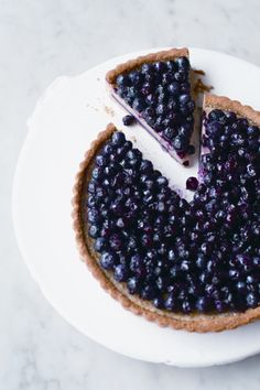 Blueberry-Huckleberry Grand Marnier Tart