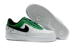 info for 92e9f 8e879 Herre Nike Air Force 1 25th Low Sko Hvit Grønn Svart 53360 Air Force One  Shoes