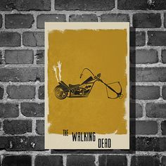 The Walking Dead Daryl retro poster minimalist art by Harshness