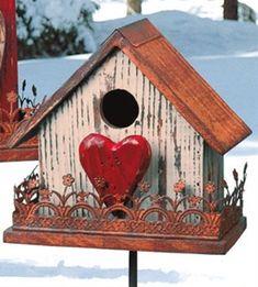 Valentine Birdhouse - Click image to find more gardening Pinterest pins