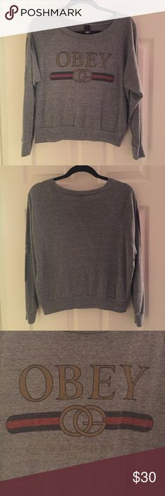 Obey Long-Sleeve Shirt This top has been worn a few times but still has a lot of life left in it. It's in great condition has no spots or tears and isn't pilling. Bought it online from the Obey website. Very comfortable! Price is negotiable  Obey Tops Tees - Long Sleeve