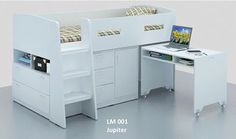 Jupiter Midi Sleeper Bunk Bed Measurement Width 1460mm x Length 2180mm x Height 1200mm | Jupiter Midi Sleeper Bunk (King-single) | Midi Lofts & Bunks | Mattresses