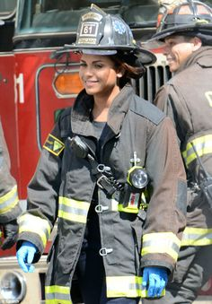 Chicago fire: she's going to look good as a fire fighter!