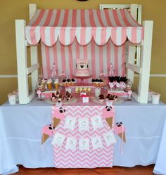 Minnie Mouse Ice Cream Shop Birthday Party / Party Decorations via Babyshowerideas4u.com #baby shower #party