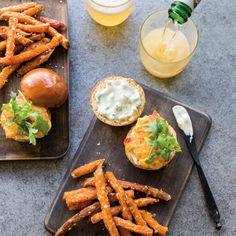 Corn and Red Pepper Burgers | Williams-Sonoma Taste