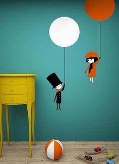 wall sticker balloon autocolant decorativ pentru perete balon www.caiverzipepereti.com