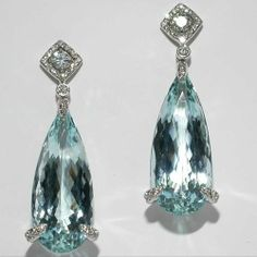 markpattersonjewelry:    Something Blue! Aquamarine and Diamond Earrings