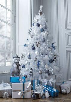 Noël bleu et blanc