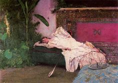 Henri Lucien Doucet (France Painter , 1856-1895) – Beauty of Harem John Frederick Lewis (British Painter1805-1876) – Indoor Gossip John Frederick Lewis (British Painter1805-1876) &#…