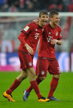 Thomas Müller and Joshua Kimmich.