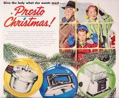 Vintage Christmas Ad Presto 1953 - Today's Presto Cookers, Marcie Fleischman