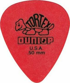 Tortex Guitar Pick, .50 Red, Pack of 12 (418P.50) by Jim Dunlop. $3.49. Review                Standard Dunlop Tortex PIcks, .50, red.The pick used by top musicians worldwide. Tortex picks are carefully designed and manufactured to give the characteristic maximum memory and minimum wear that made original tortoise shell famous. Dunlop's Tortex picks are available in a variety of shapes and gauges.  -- GameSpot Review                                    Product Description      ...