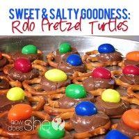 Pretzel + Rolo + Nut = Pretzel Turtles!