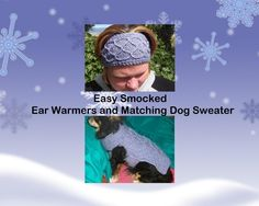 $3.00 Knit Ear Warmers for U & Matching Dog Coat for your best friend PDF pattern