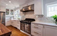 White Cabinet Mid Century Modern Denver Kitchen Remodel