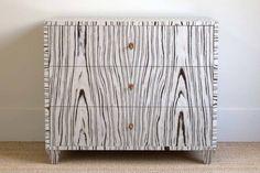 Cerused 3 Drawer Dresser | BungalowClassic