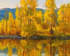 Fall Reflections Near Aspen by Robert Rohm Oil ~ 24 x 30