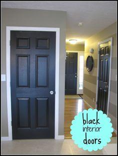 black interior doors via home happy home