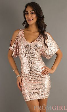 Short Sequin Dress with Sleeves   ----Cheap Cocktail Dresses, Party Cocktail Dresses,Cocktail Gowns UK,Cocktail Dresses