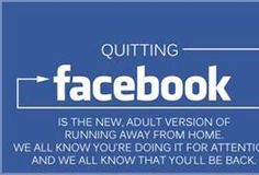 Giving up Facebook... could you? Facebook Social Media Humor