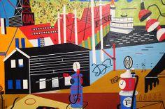 Detail from:'Landscape with Garage Lights' Stuart Davis 1931-32