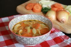 Chicken Broth / Chicken Bone Soup: ''My elderly neighbor recently asked me to make her a soup, the type of chicken soup her mother made for her as a child in the 1930s – chicken soup made from bone broth and vegetables...''