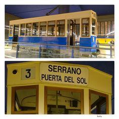 Uno de los últimos tranvías que circularon en Madrid. este vagón está en en el Metro de Pinar de Chamartín