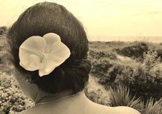 Custom Floral Hair Barrette on Etsy, $15.00