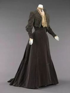 Vintage Gowns, Mode Vintage, Vintage Outfits, House Of Worth, 1890s Fashion, Edwardian Fashion, Gothic Fashion, Edwardian Dress, Fashion Vintage