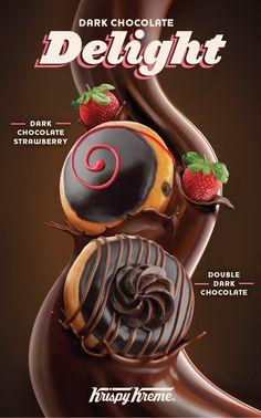 """Dark Chocolate Delight"" Donuts at Krispy Kreme"