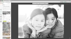 PicMonkey's Super B&W effect makes it easy to convert color photos into black and white portraits.