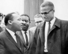 Martin Luther King jr and Malcolm X Civil Rights Leader Great African American Orator History Black