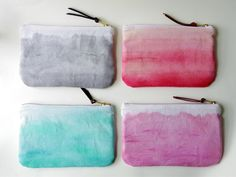 Hey, I found this really awesome Etsy listing at https://www.etsy.com/listing/232264963/watercolor-effect-zip-pouche-hemp