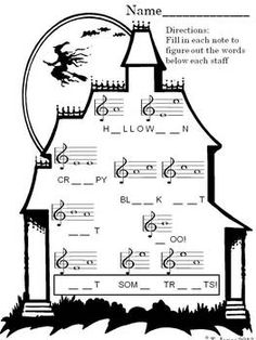 Piano Lessons For Beginners. Learn Piano Fast with our Online Piano Lessons! Piano Lessons, Music Lessons, Vocal Lessons, Singing Lessons, Halloween Music, Music Lesson Plans, Music Worksheets, Music Activities, Music Games