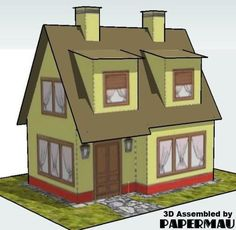 Simple Vintage Family House Free Building Paper Model Download - http://www.papercraftsquare.com/simple-vintage-family-house-free-building-paper-model-download.html#BuildingPaperModel, #House, #Vintage