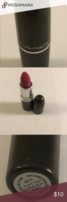M.A.C Matte Lipstick Used M.A.C Matte Lipstick Used. Full of color and plenty more life left !!! This needs a new home !!!! I have so many of them !!! Don't be afraid to make your own brand of beautiful!!! MAC Cosmetics Makeup Lipstick