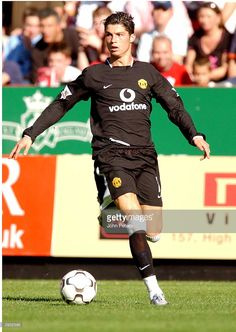 Cristiano Ronaldo in action during the FA Barclaycard Premiership match between Charlton Athletic v Manchester United at The Valley on September 2003 in London. Charlton Athletic, Cristiano Ronaldo, The World's Greatest, Manchester United, Athlete, Soccer, Action, The Unit, Football