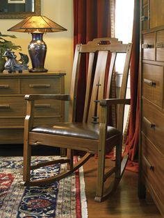 Stickley Find of the Day: East Colorado Rocker A classic form with an Arts  Crafts twist- this rocker of solid Sapelli wood and raised African blackwood accents was inspired by the work of Greene  Greene.